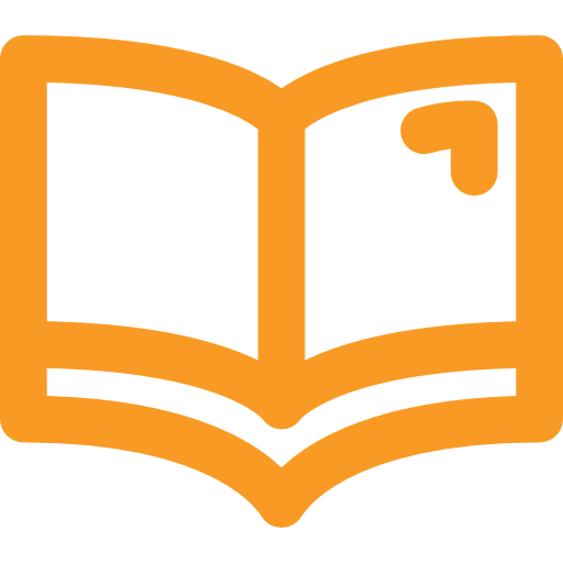 Icon of a library book linking to the Library section.